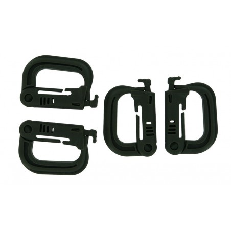 Multifunctional Hollow-out D-Ring / D-Shape ABS Buckles Clasps - Grey (4 PCS)