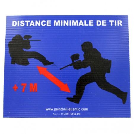 Panneau Distance minimun de sécurité