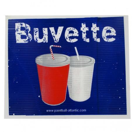 Panneau Buvette