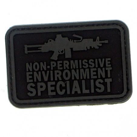 Patch pvc non permissive environnement specialist noir