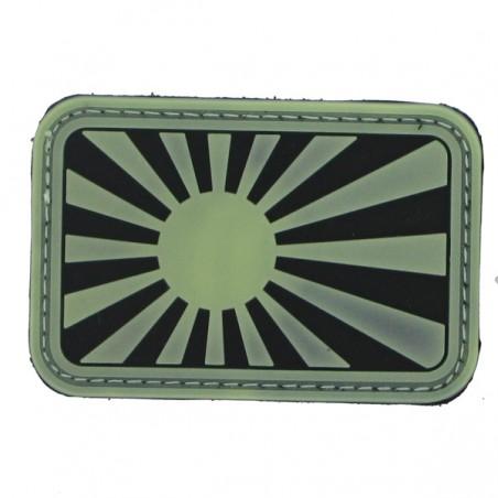 Patch PVC japan war fond noir olive