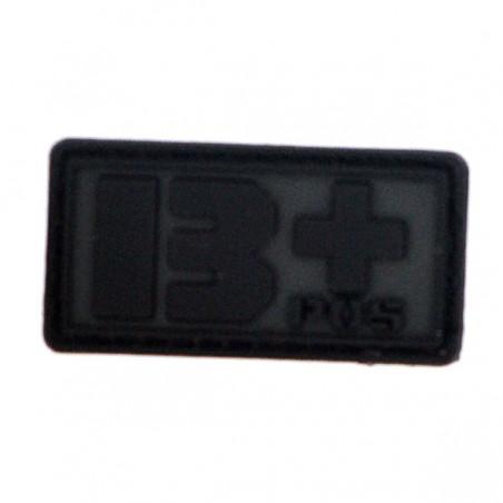 Patch PVC groupe sanguin B+ noir
