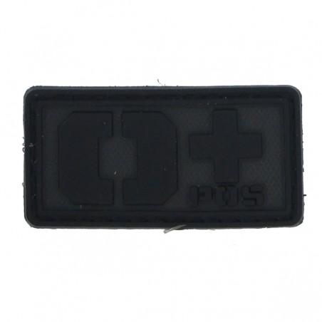Patch PVC groupe sanguin O+ noir