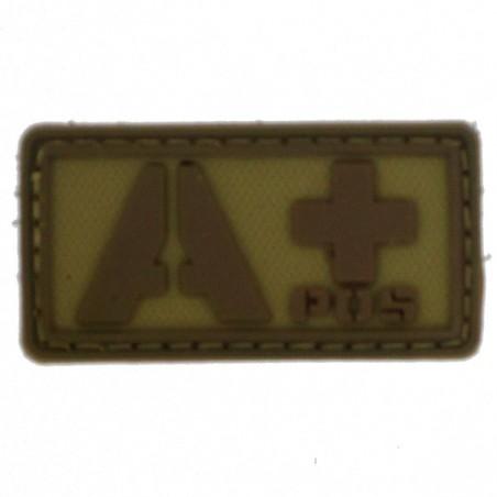 Patch PVC groupe sanguin A+ beige