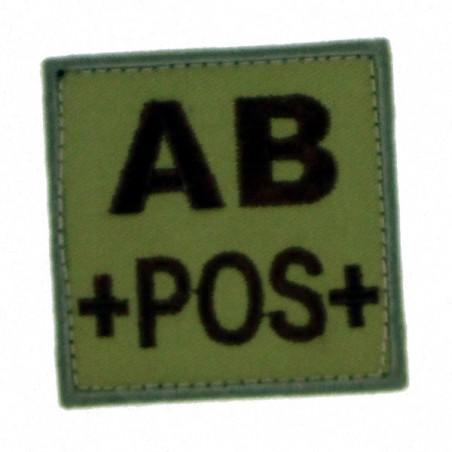 Patch TISSU groupe sanguin AB+ beige