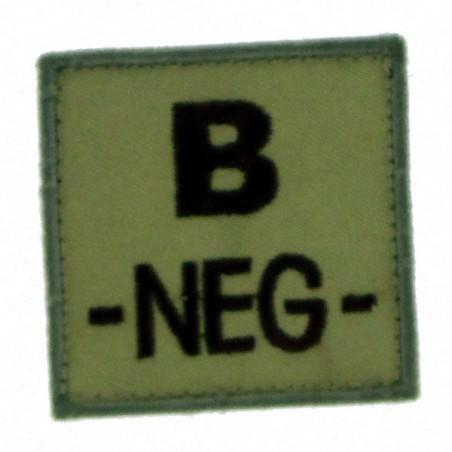 Patch TISSU groupe sanguin B- beige