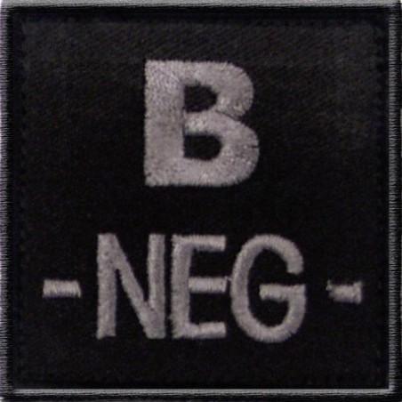 Patch TISSU groupe sanguin B- noir