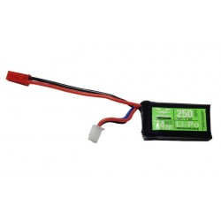 Batterie LIPO 7.4V 250mAh 25C Valken pour V12