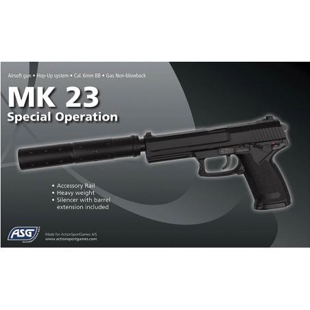 Gaz culasse fixe MK23 hop-up noir