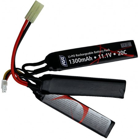 Batterie, 11,1V 1300 mAh, LI-PO, sticks