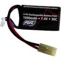 Batterie, 7,4V 1000 mAh, LI-PO