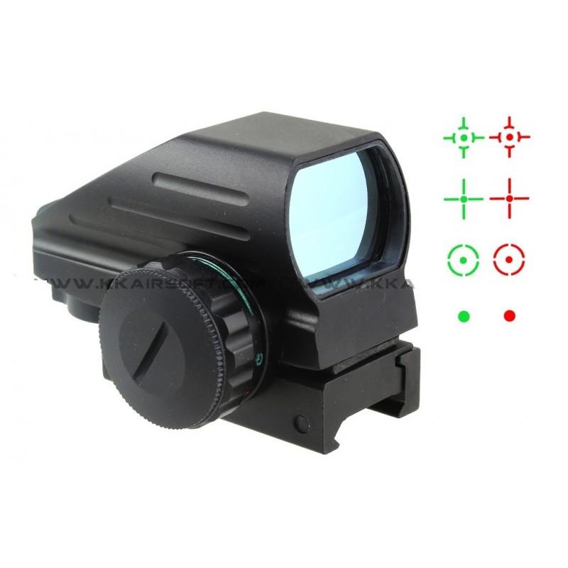 1X22X33 red and green dot reflex sight