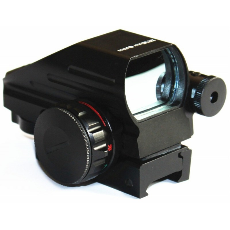 1X22X33 red and green reflex sight with red laser sight