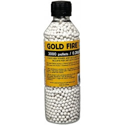 Airsoft BB, Gold Fire, 0.20g - 3000 pcs. in bottle