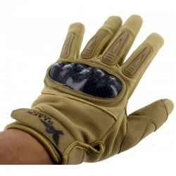 Airsoft Mil Star Tan Gloves BE XL