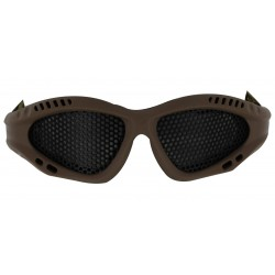 Airsoft O Style No Fog Metal Mesh Goggle Glasses Tan