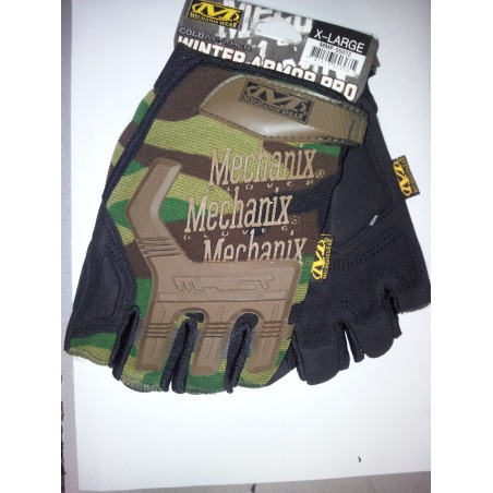 New Style Half Finger Yellow Black Gloves L