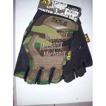 New Style Half Finger Yellow Black Gloves M