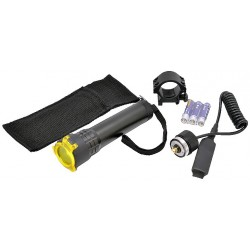 Óptica - V Tactical LED Flashlight w / Mount, filtro e controle remoto