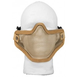 Airsoft Strike Half Face Tactical Military Bravo Strike Wire Mesh Mask(Skull Tan)