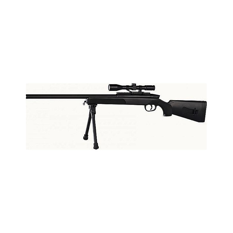 SWISS ARMS Black Eagle M6 sniper 6mm + visee point rouge 25BB's