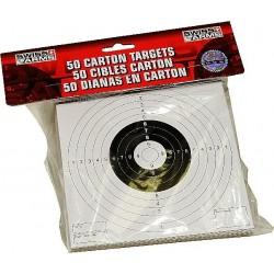 Cible carton (x50) 14 X 14 pour tir BB's 6mm & 4,5mm SWISS ARMS