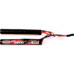 SWISS ARMS Lipo 7,4V 3200mAh 25C Round Stick Twin