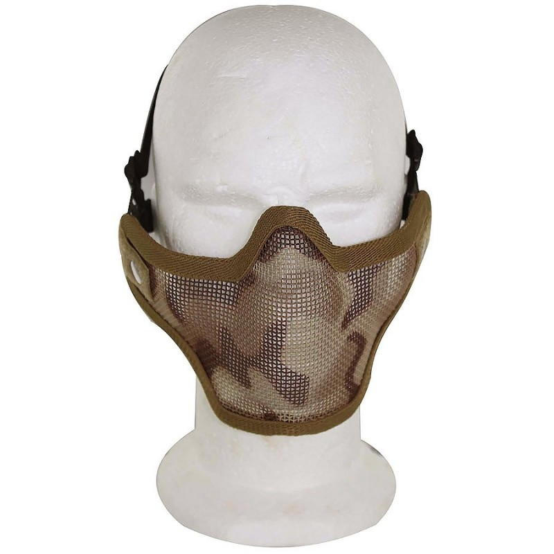 Airsoft Strike Half Face Tactical Military Bravo Strike Wire Mesh Mask Desert