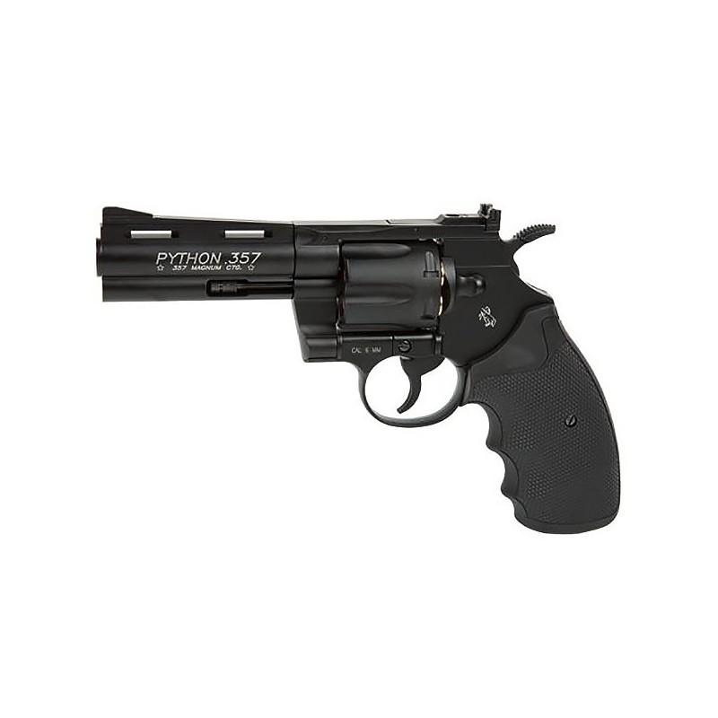 COLT PYTHON 357 noir 4 '' Co2 metal 6 mm 6 BB's