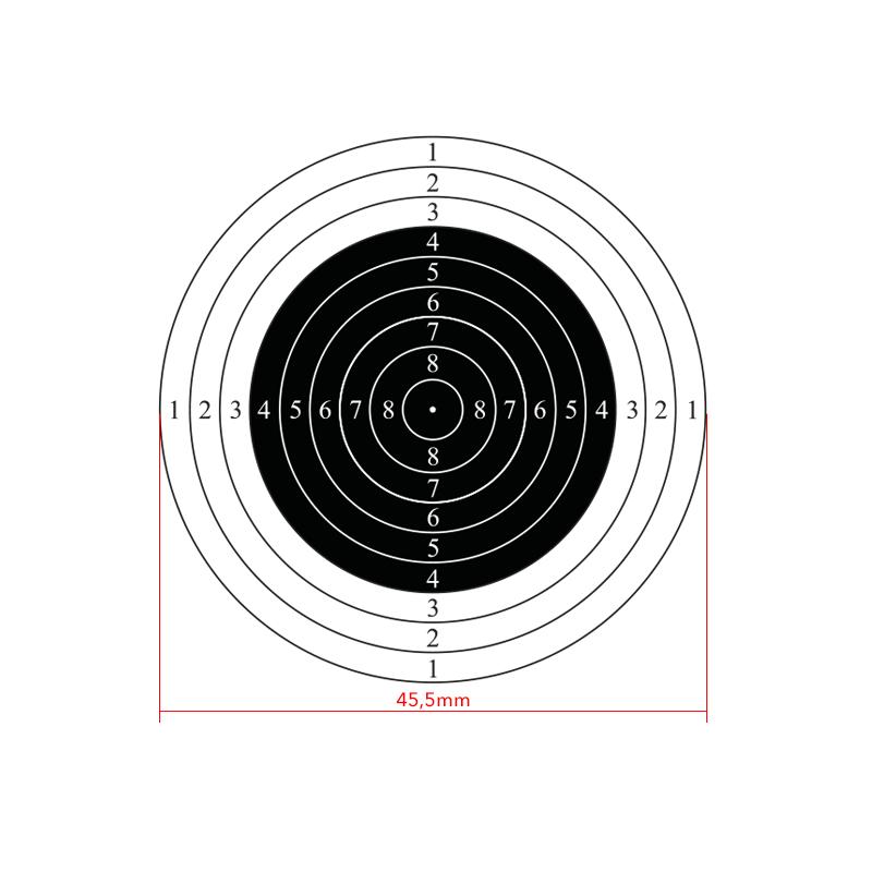 10m international air rifle shooting target, 50pcs