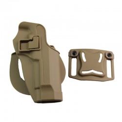 Tactique Gun Holster CQC Serpa Airsoft Chasse En Plein Air Ceinture Holster Pouch pour M9