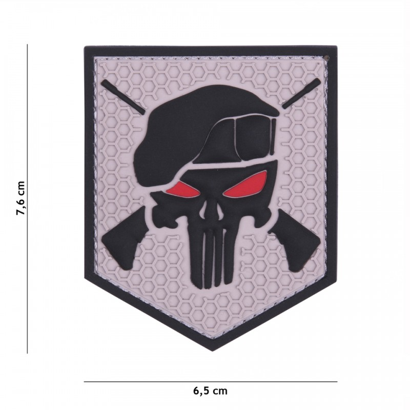 Patch 3D PVC Commando grey
