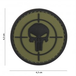 Patch 3D PVC Punisher sight green