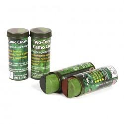 Camo Creme stick 2 bi-color Vert / Marron