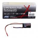 Batterie ASG Li-Po 7,4V 250 mAh