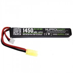 BATTERIE LIPO 11.1 V 1450 mah 25C 1 ELEMENT NUPROL