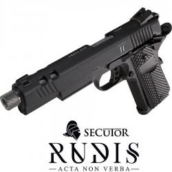 Pistolet Gaz et Co2 Rudis II ACTA NON VERBA STONE SECUTOR
