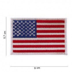 "Patch "" drapeau USA bordure blanche "" (large)"