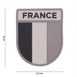 Patch 3D PVC French army grey/black