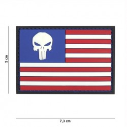 Patch 3D PVC Punisher USA flag