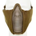 Metal Mesh pad with cheek pad Tan