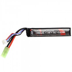 Batterie, 7.4V, 1300 mAh, LI-PO, Single Stick