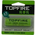 Pile Topfire LC 18650 2200 mah ou Ultra fire 18650 3800 mAH
