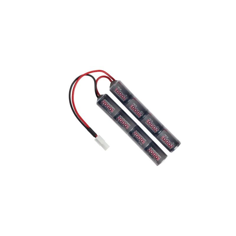 Batterie ASG (strike system) NimH Type Nunchuck -9.6V 2000 mAh
