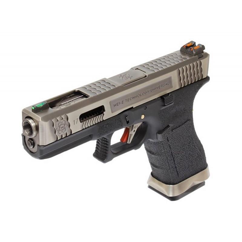 WE Glock 17 T7 Argent/Noir