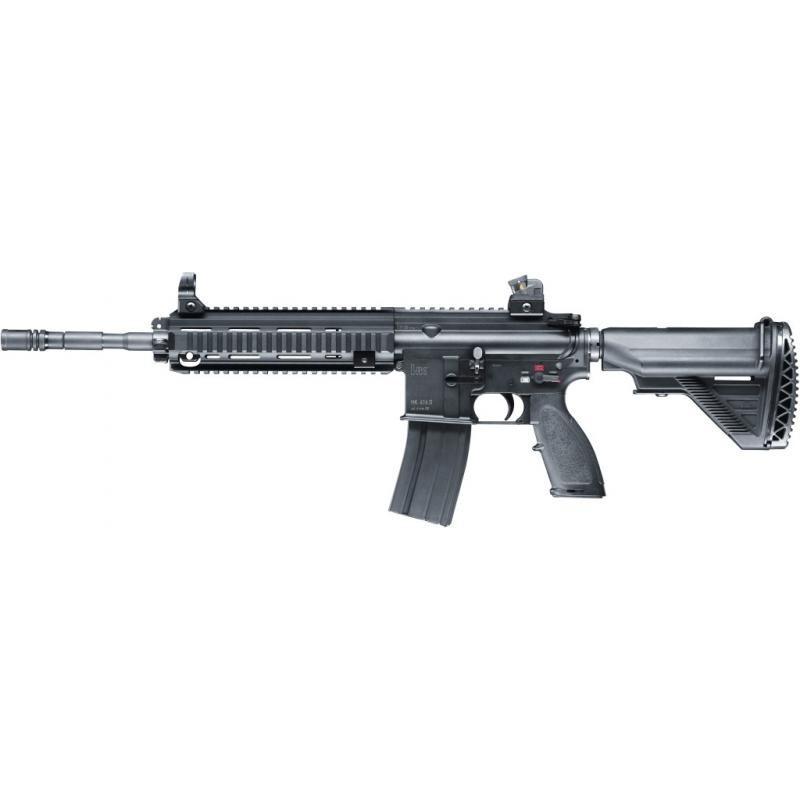 REPLIQUE LONGUE H&K HK416 C6MM GAZ BB NOIR FULL METAL 1.6J
