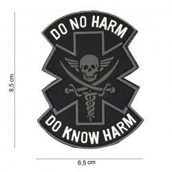 Patch 3D PVC : Do no harm, noir
