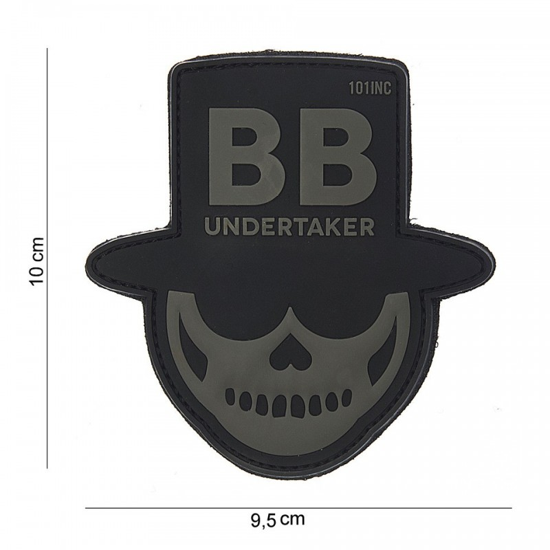Patch 3D PVC : BB undertaker gris
