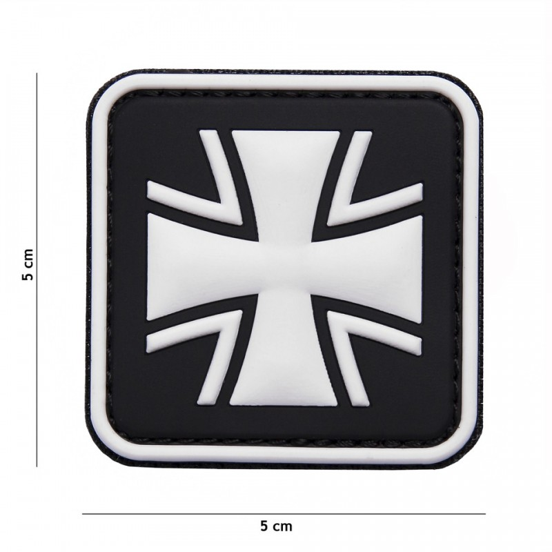 Patch 3D PVC German cross black No8075