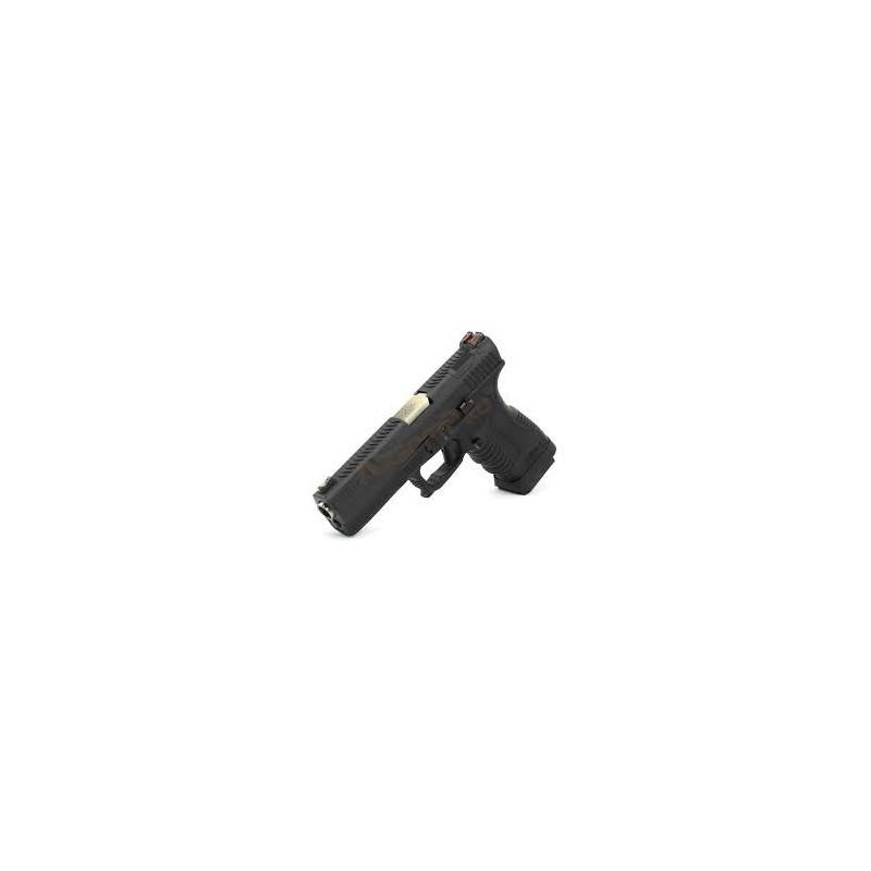 GP1799 T5 – GBB, metal blackslide, black frame, silver barrel